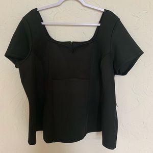 NWT Eloquii Black Short Sleeve Blouse Sz 22